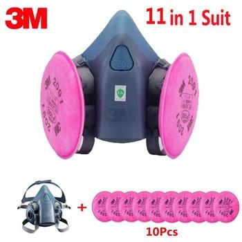 3 M 7502 Yarım Yüz Maskesi 11 In 1 Takım Elbise Ile 2091 Sanayi