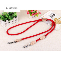 SU GENERIS Nylon Dog Harness Multi Function Pet Traction Rope Double Head Hook Chain Stitch Dog