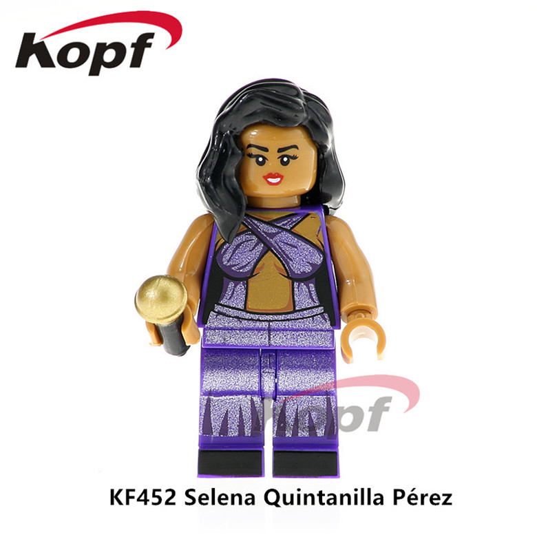 50Pcs Super Heroes Selena Quintanilla Perez Michael Jackson Popeye Bob Ross Building Blocks Collection Toys Children Gift KF452