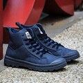 2017 Новый Зимний Человек Высокого Топ Повседневная Обувь Мода Досуга Знак Высокого Качества PU наоборот Досуг Мужская Обувь Бесплатная Доставка