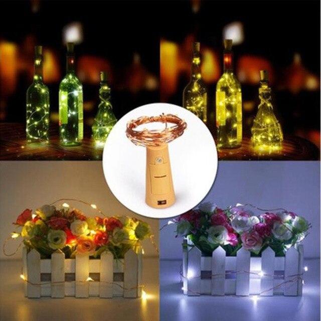 Z30 Mini Fee Nachtlicht Schlafzimmer Lampe Weinflaschenkorken Lichter 20 Led  2 Mt Kupferdraht String Licht Für
