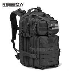 Mochila militar táctica de asalto mochila ejército Molle impermeable Bug Out bolsa pequeña mochila para senderismo al aire libre caza