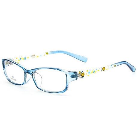 1ae743d4f4 Clear Lens Child Eyeglasses Frame Myopia Kids Prescription Reading Glasses  Color Patchwork Happy Cartoon Bear Print Transparent
