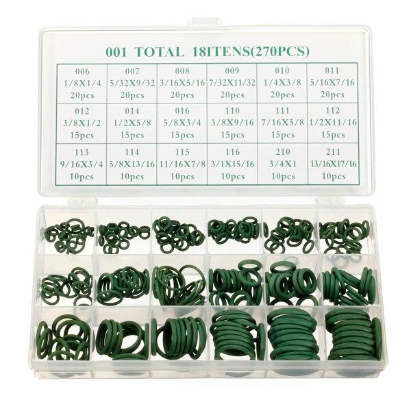 270 шт. 18 Размеры Ассортимент Комплект кондиционер hnbr Кольца Комплект автомобиль зеленый