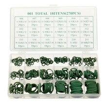 270 Pcs 18 Sizes Assortment Kit Air Conditioning HNBR O Rings Set Car GREEN