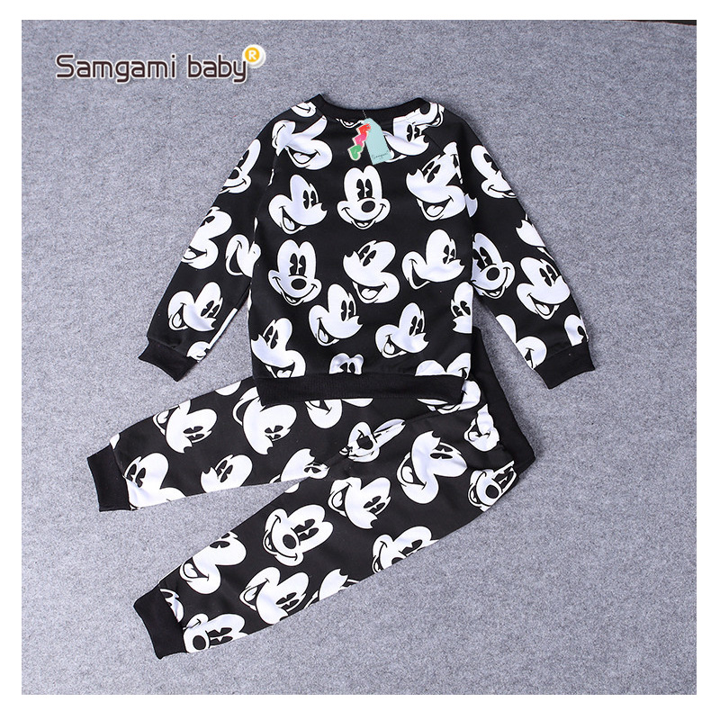 Childrens Clothing Suit Spring Autumn boy girl Sports Suit cotton baby long sleeve T-shirt + trousers 1-6 year old child clothes the 1 000 year old boy