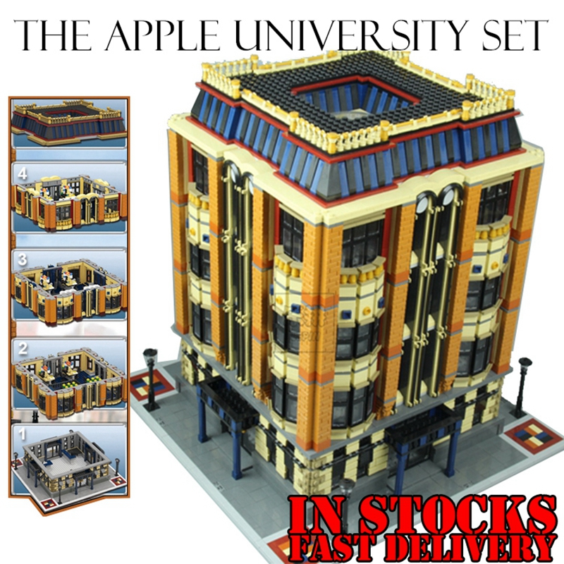 Lepin 15016 7968pcs MOC Creative Creators Series The Apple University Building Blocks Bricks Toys for children gift brinquedos