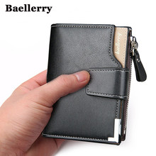 RU Wallet men's PU men's handbags wallet short men's clutch leather wallet men's money bag quality guarantee Baellerry brand(China)