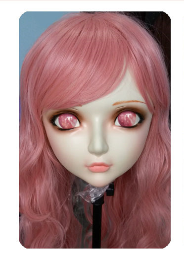 Women/girl Sweet Resin Half Head Kigurumi Bjd Mask Cosplay Japanese Anime Lifelike Lolita Mask Crossdressing Sex Doll Costumes & Accessories dm034