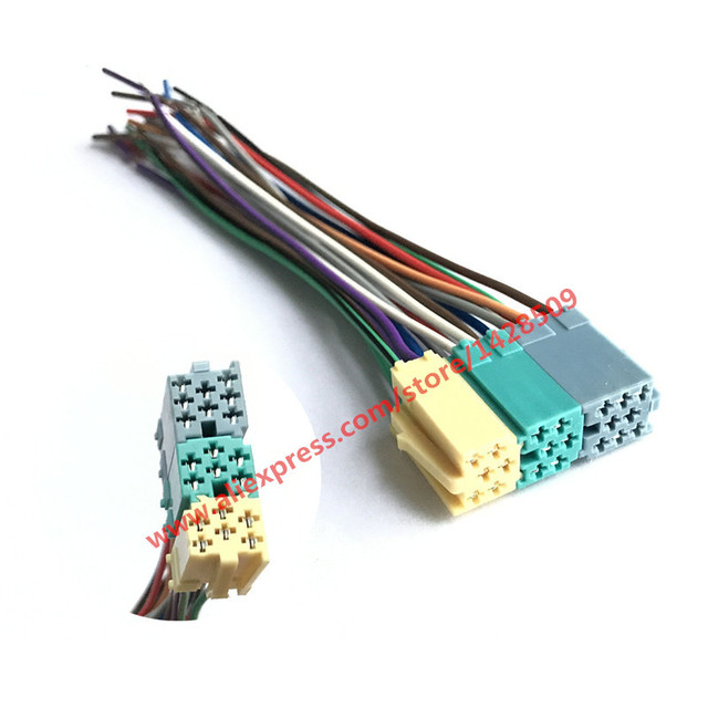 5 Pcs Universal ISO Radio Wire Harness 20 pin Connector Adapter Plug