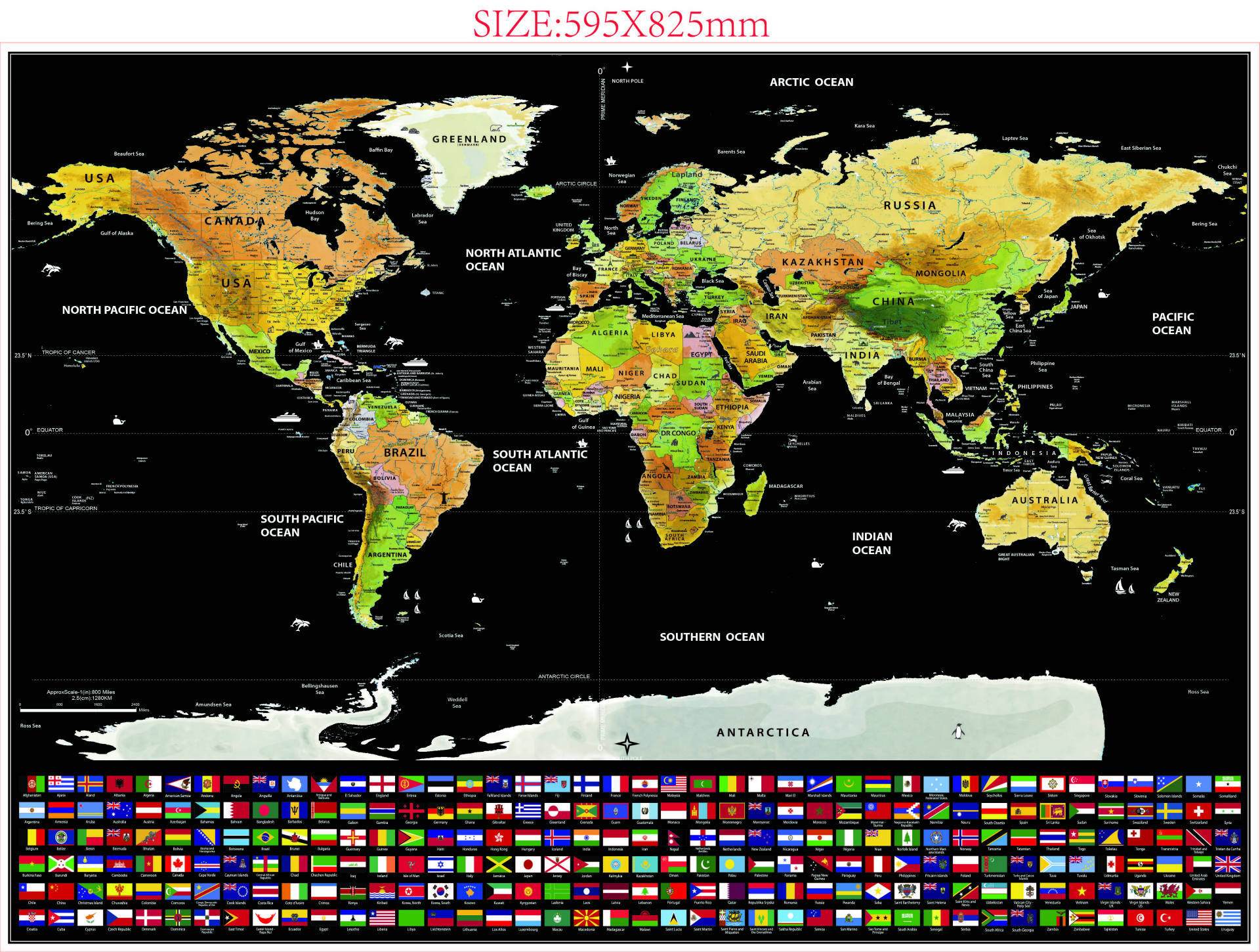 Drop Shipping Luxury World Map National Flag Custom Map Scratch Off