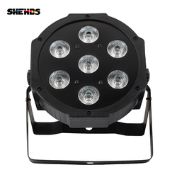 SHEHDS LED 7x18W RGBWA + UV Luz Par com DMX512 EM/OUT e Power & FORA 6in1 stage Efeito DJ disco efeito de luz para a Lavagem
