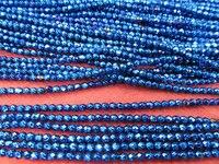 Оптовая 5 пряди 2 3 4 6 8 мм Гематит камень Титана покрытием, круглый шар граненый синий серебро, золото, бронза, фиолетовый, brozne смешанные ло