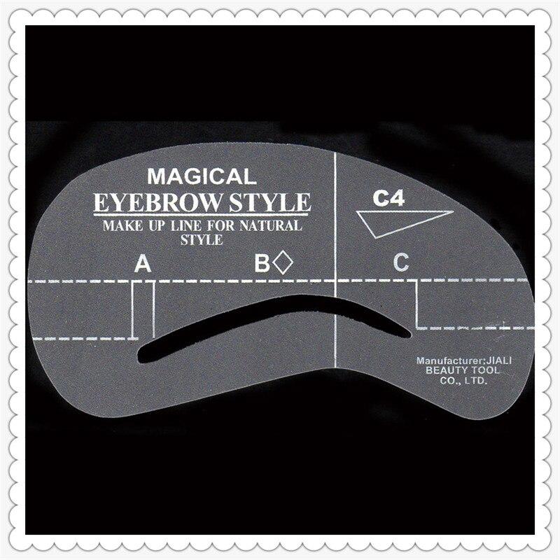 5pcs Eyebrow Stencils C4 Plastic Eyebrow Stencil Reusable Eyebrows