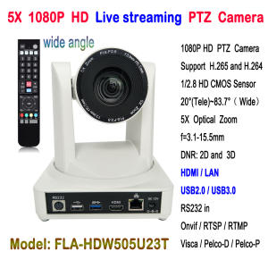 Super Wide Angle 83.7 degree 5x Optical Zoom HDMI PTZ Video Conference IP USB2.0 USB 3.0 PTZ Camera