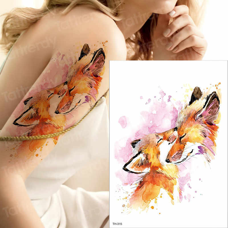 Waterproof temporary tattoo stickers on the body art women men tattoos flower rose fake tatoo stickers tattoos water color tatto