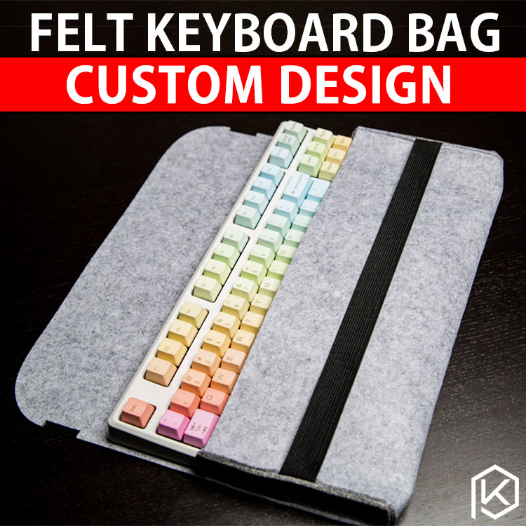 Soft Felt Keyboard Carrying Case Bag For Planck Preonic Gh60 Xd64 Tada68 87 104 Va68 K65 K70 K95 3000 3494