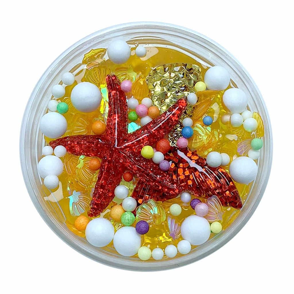 TELOTUNY Mud Clay Fluffy Mud Mermaid Tail Charms Fishbowl Mermaid Bubble Bath Slime Toy Gift Childred Slime ToyS  Hot New Jan23