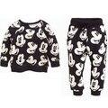 Минни маус дети мальчик девочка одежды комплект костюм микки ребенка мультфильма майка + брюки техники Vetement Enfant Fille гарсон Kleding