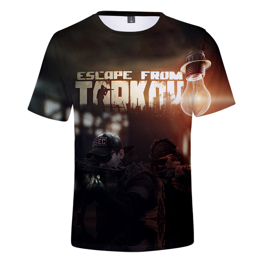 NEW 3D Escape From Tarkov Print Summer T-shirts Women and Men Casual Hot Sale 2019 Short Sleeves tshirts Plus Size 4XL(China)
