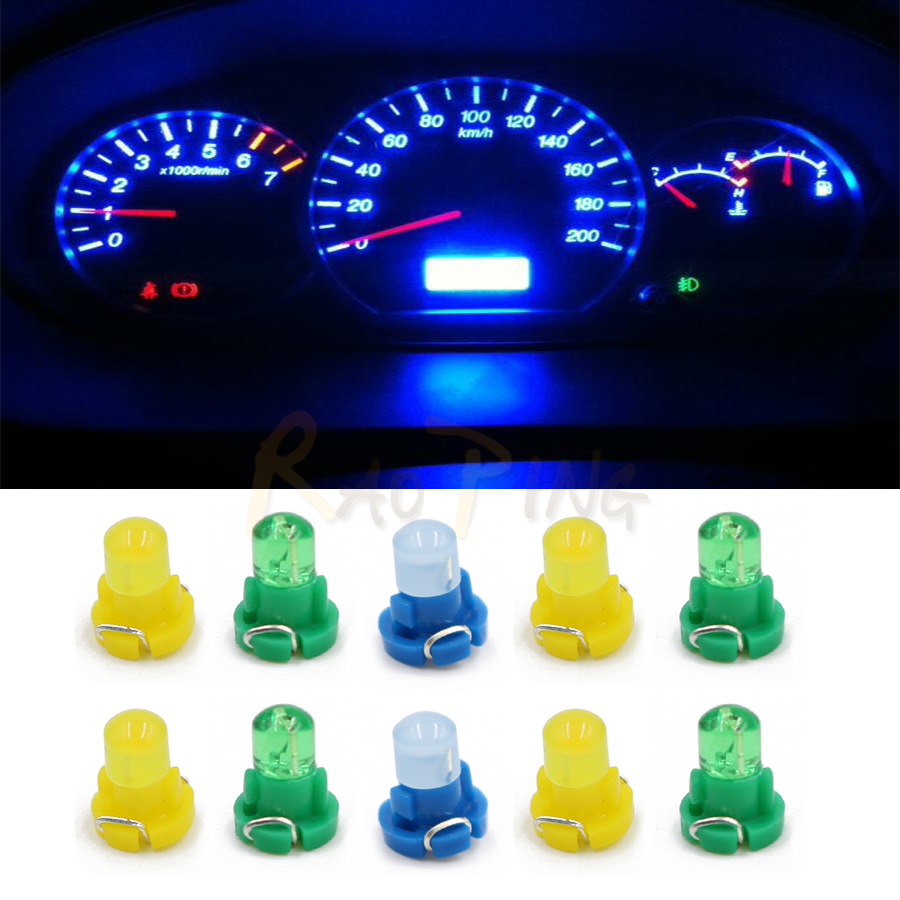 10pcs Car Led Instrument Panel Lights T3 Signal Lamp