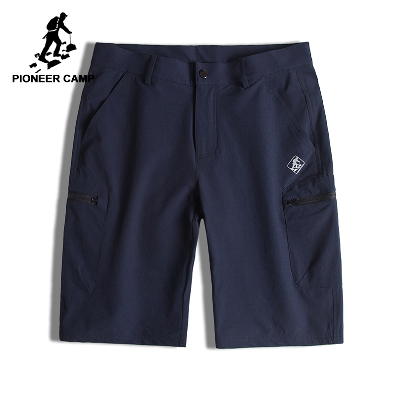 Pioneer Camp Quick Drying Men Short Brand Clothing Solid Casual Shorts Male Top Quality Stretch Bermuda Shorts For Men ADK701151