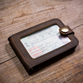 Handmade Men's Genuine Leather Driver License Holder High Quality first layer of cowhide Credit Card holder.