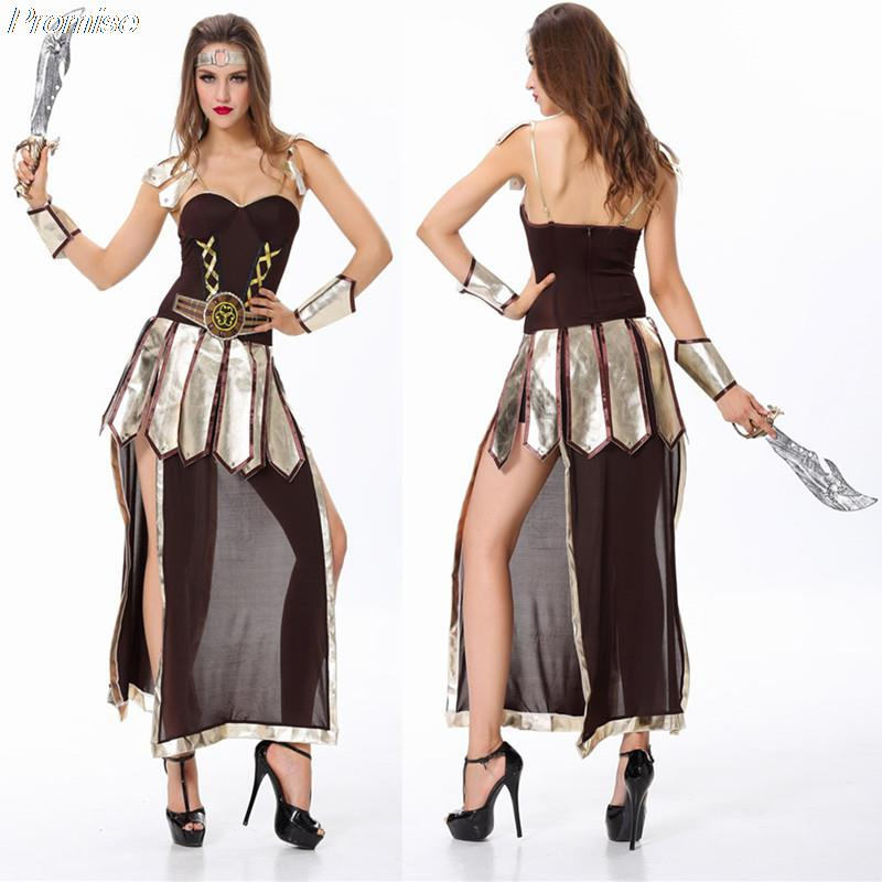 2bf670ef8ab New Arrival Halloween Costumes for Women Cosplay ancient Greek goddess of  war Roman female warrior role costume playing uniform-in Sexy Costumes from  ...