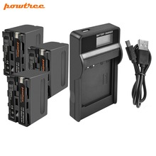 Powree For Sony 3PCS 7.2V 8700mAh NP F960 NP-F960 NPF960 F770 F750 F950 F970 Battery + LCD Charger Replacement CCD-TR36E