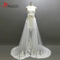 Two Pieces High/Low Wedding Dresses 2017 Lace Bridal Gowns See Through Vestido De Novias