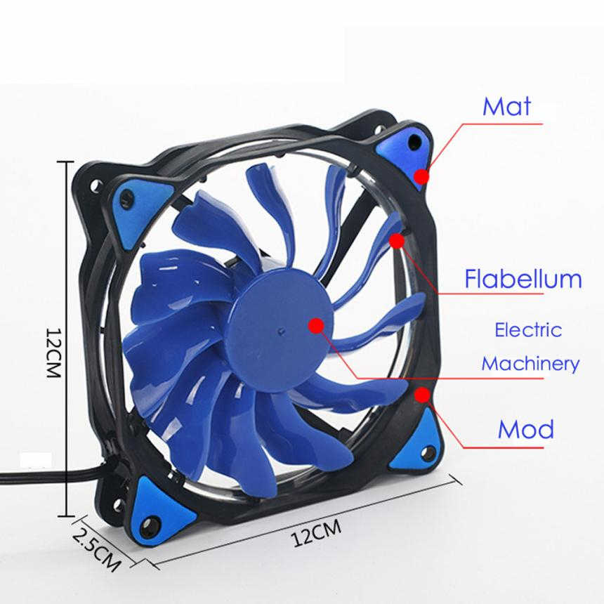 Mokingtop Colorful New 2018 CPU Cooling Fan  Quiet 120mm DC 12V 3+4pin LED effects Clear Computer Case Fan For Radiator Mod#30