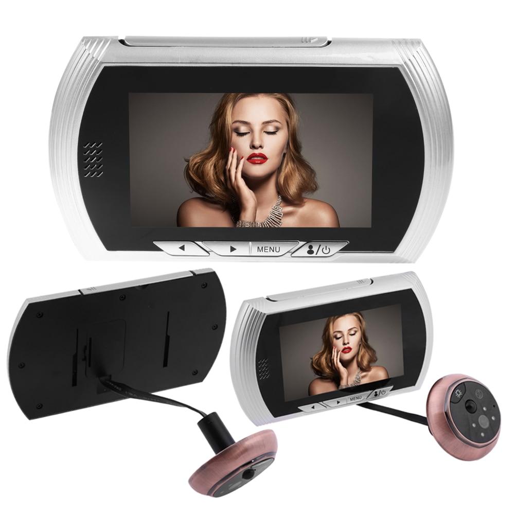 4.3 Pouce Écran de Zinc sans Déranger Mouvement Détection Maison intelligente Pry Preuve Conception Avec Écran HD 140 degrés vue