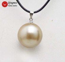 Qingmos светильник коричневая круглая подвеска и ожерелье для