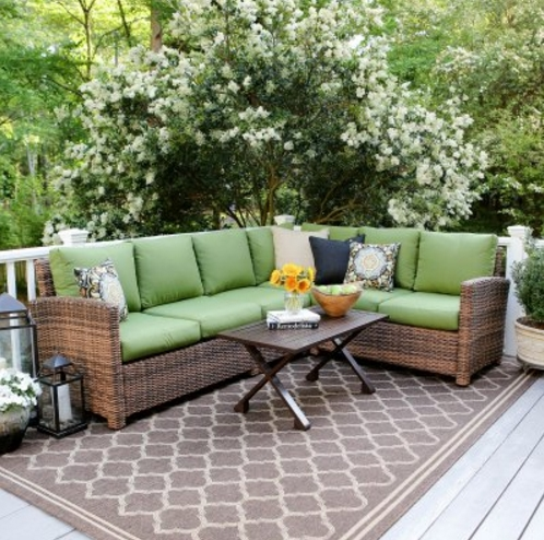 good quality patio garden furniture green cushion outdoor couches for sale