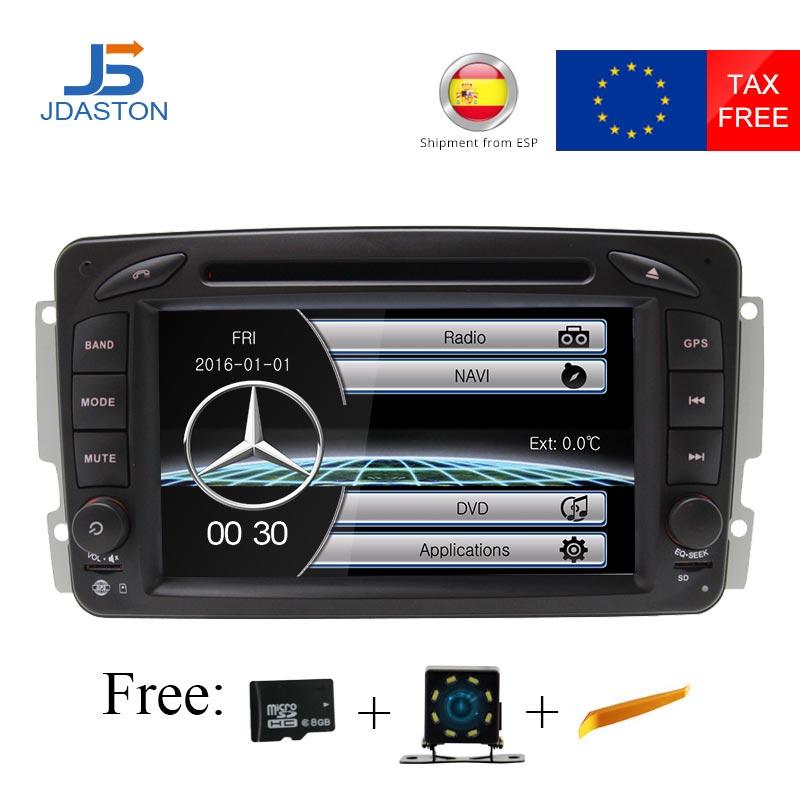 JDASTON Top Profession 2 Din 7 inch Car DVD Player For Mercedes Benz W209/W203/W168/M/ML/W163/W463/Viano/W639/Vito RADIO GPS SWC