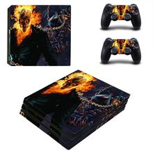 Ghost Rider PS4 Pro Skin Sticker For Sony Dualshock PlayStation 4 Console and Controllers PS4 Pro Skin Stickers Decal