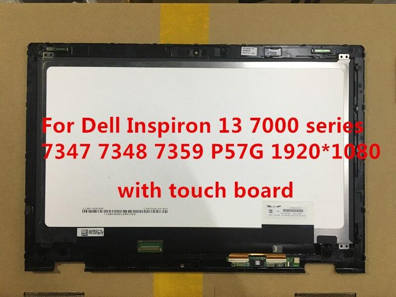 FHD 4KJWY 04KJWY Dell Inspiron 13 7347 7348 7359 Touch LCD Screen Assembly Bezel