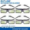 4 pçs/lote g15 dlp óculos de obturador ativo 3d para optoma sharp lg acer benq dlp-link projetores dlp link óculos 3d livre grátis