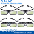 4pcs/lot G15 DLP 3D Active Shutter Glasses for Optoma Sharp LG Acer BenQ DLP-LINK DLP Link Projectors gafas 3d Free Shipping