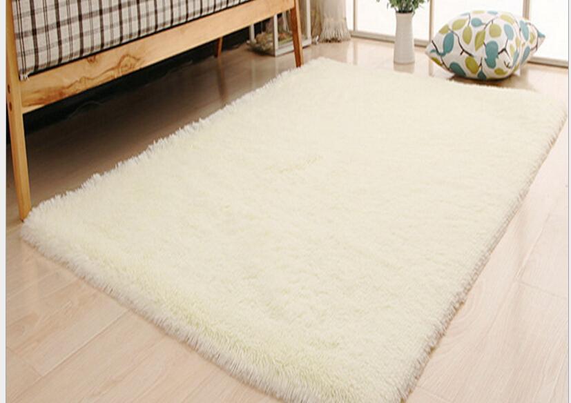 Living Room Carpet European Fluffy Mat Kids Room Rug Bedroom Mat Antiskid Soft Faux Fur Area Rug Rectangle Mats Gray Red Green 16