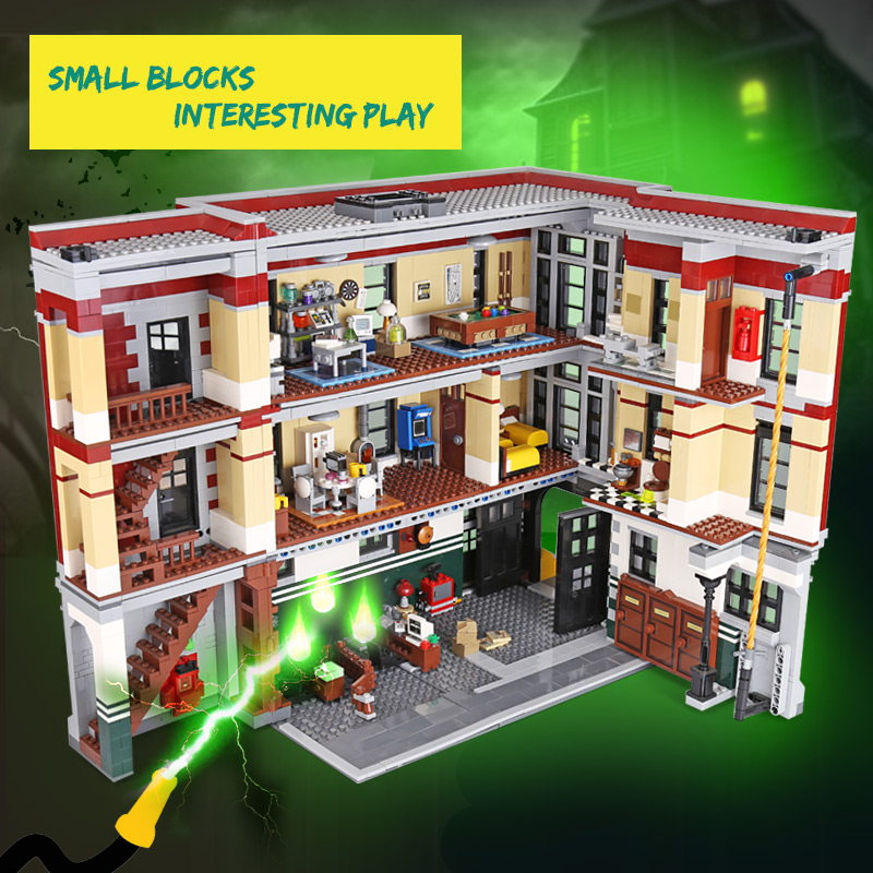 DHL 16001 Building Toys The 75827 Ghostbusters Firehouse Headquarters Set Building Blocks Bricks Assembly Kits Kids Toys Gifts