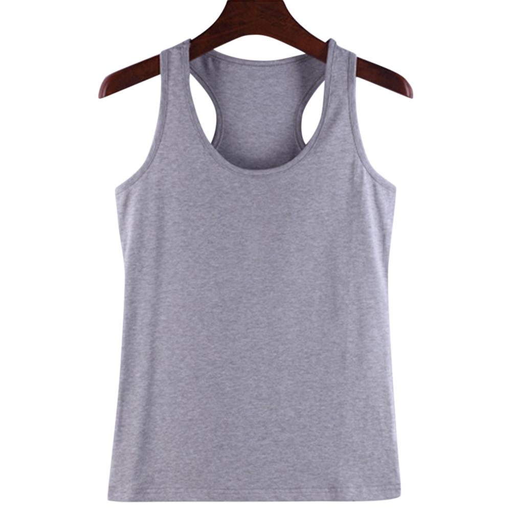 2019 New Yfashion Women Soft Cotton Wideband Knitted Sleeveless Vest