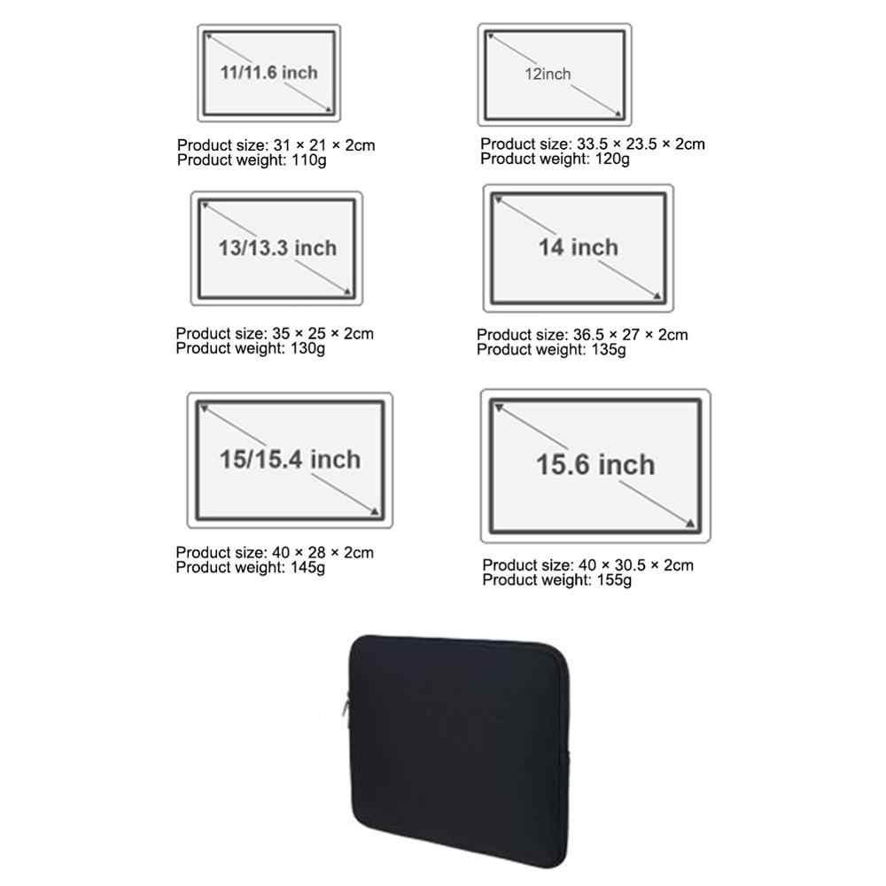 حقيبة لاب توب لاجهزة ماك بوك اير 11.6 12.5 13.3 انش جلد جراب للماك بوك برو 14 15 15.6 انش الترا سليم حقيبة لابتوب