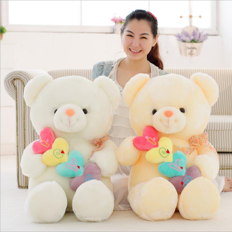 50cm Stuffed Animal Plush Love Heart Bear Girl Kid Valentine Day Birthday Gift