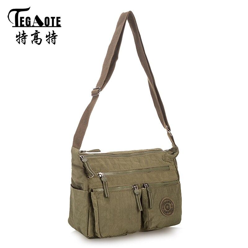 ed1e57d55be3 TEGAOTE Shoulder Bag Female Luxury Handbags Women Bags Designer Bolsa  Feminina Nylon Solid Black Crossbody Beach Bags Sac A Main