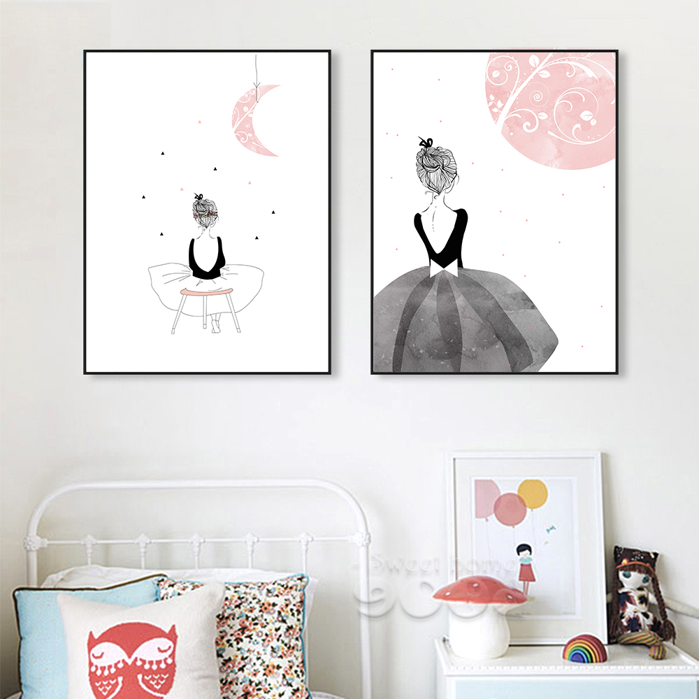 Watercolor girls canvas art print painting poster wall pictures watercolor girls canvas art print painting poster wall pictures for home decoration wall art decor cm022m in painting calligraphy from home garden on amipublicfo Gallery