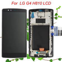 Free shipping LCD Screen for LG G4 LCD H810 Display Touch Screen with Frame Assembly Replacement