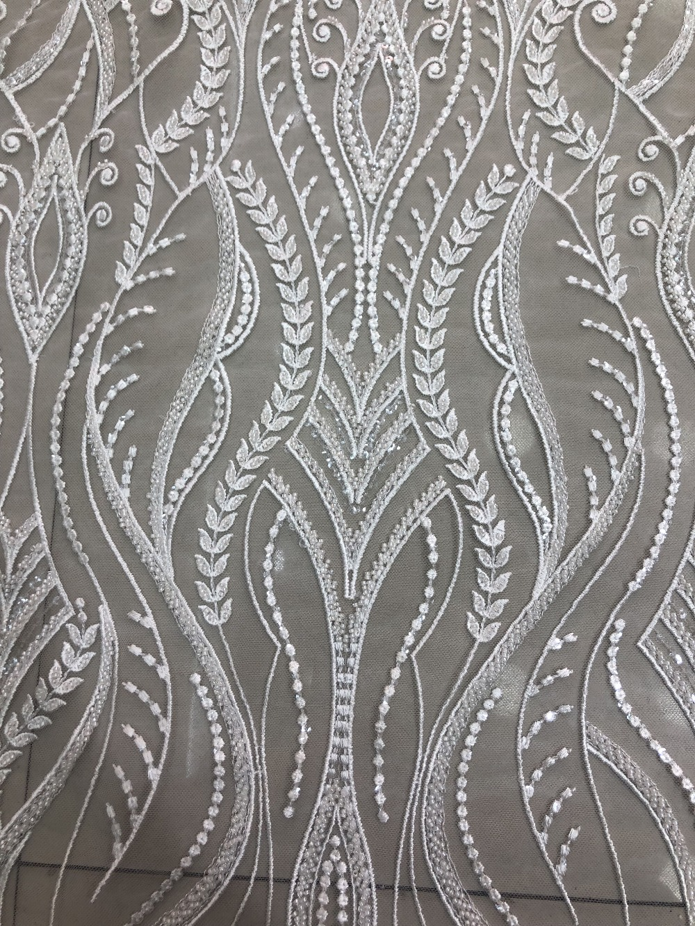 nice looking feather embroidery tulle mesh lace fabric Sat 3 3106 with good quality for party