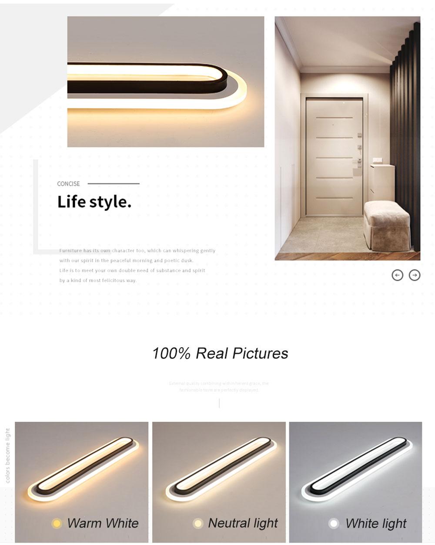HTB14TAdaBiE3KVjSZFMq6zQhVXaY Modern Led Ceiling Lights For Living Room Bedroom Study Room Corridor White black color surface mounted Ceiling Lamp AC85-265V