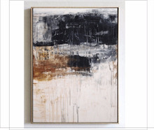 Hand Painted Grey Forest Gel Coat Canvas with Gold Foil Embellishment Abstract Knife Painting